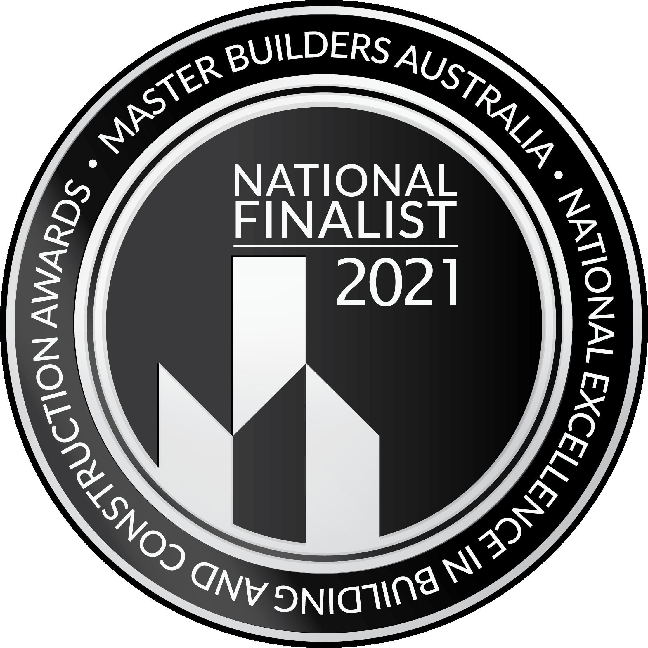 a finalist award badge